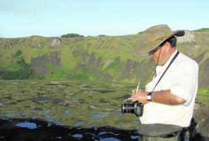 Juan Antonio Belmonte, en la isla de Pascua