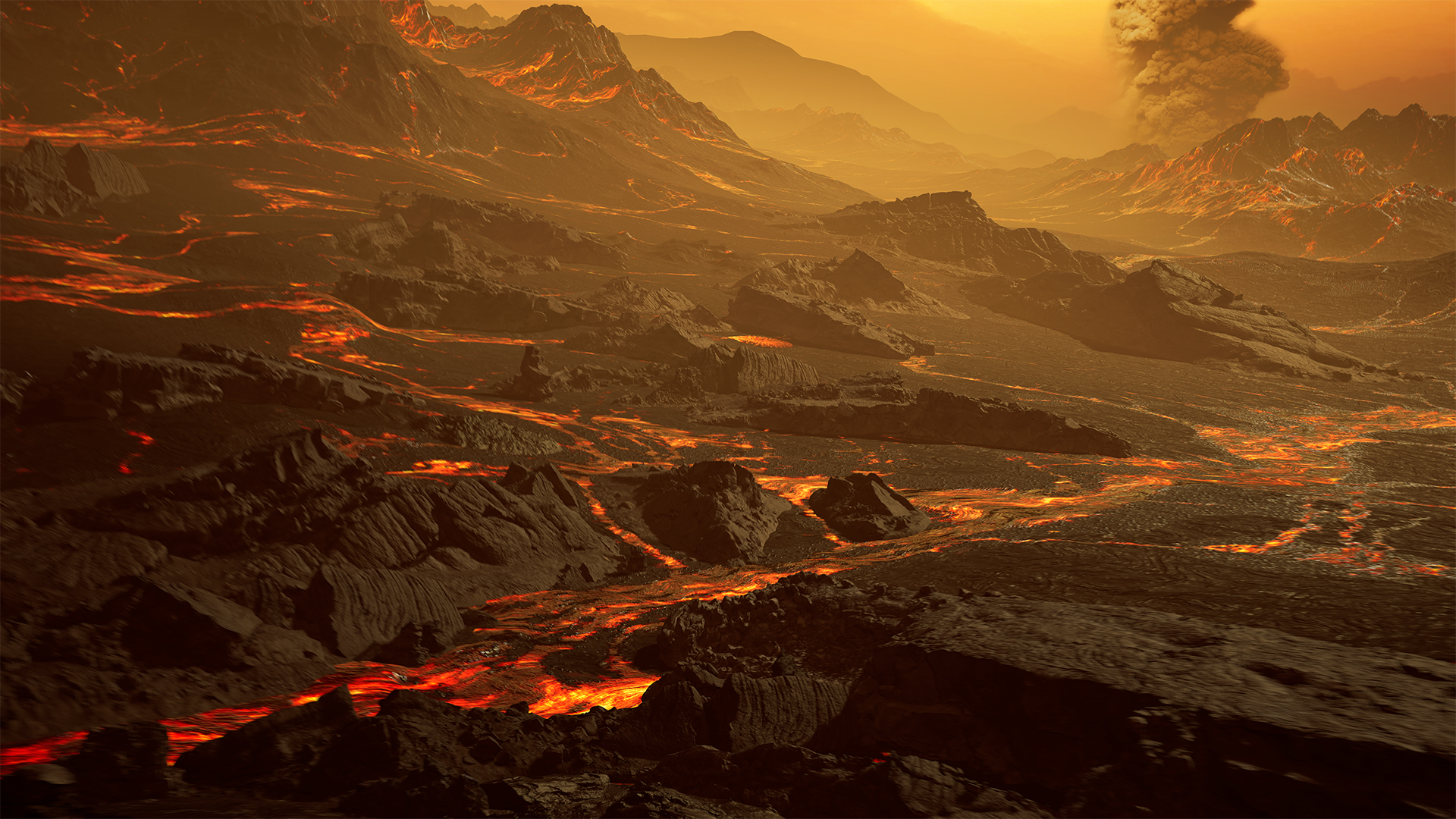 Artist's impression of the surface of Gliese 486b. Credit: RenderArea.