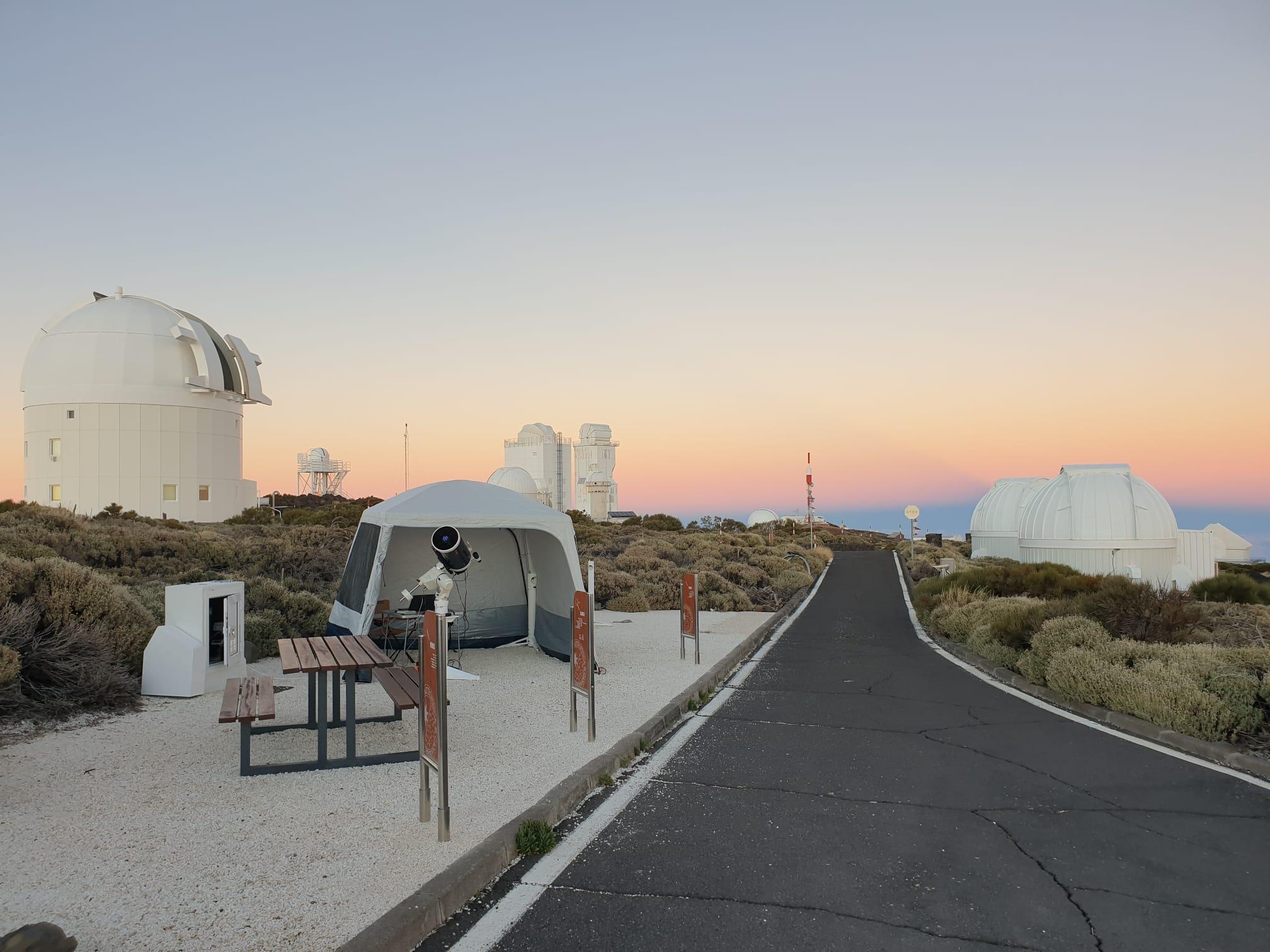 Un cielo totalmente despejado y un clima frío, aunque sin viento permitió una observación en buenas condiciones.