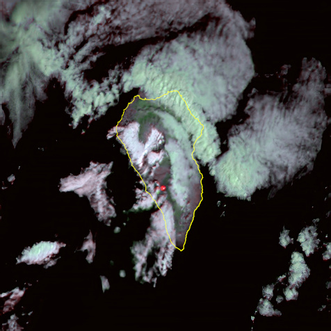 La Palma taken with the DRAGO camera from orbit