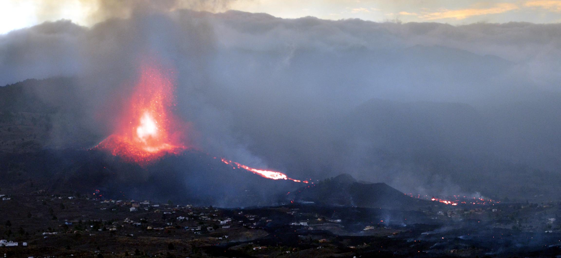 Imagen visible + swir DRAGO volcán La Palma