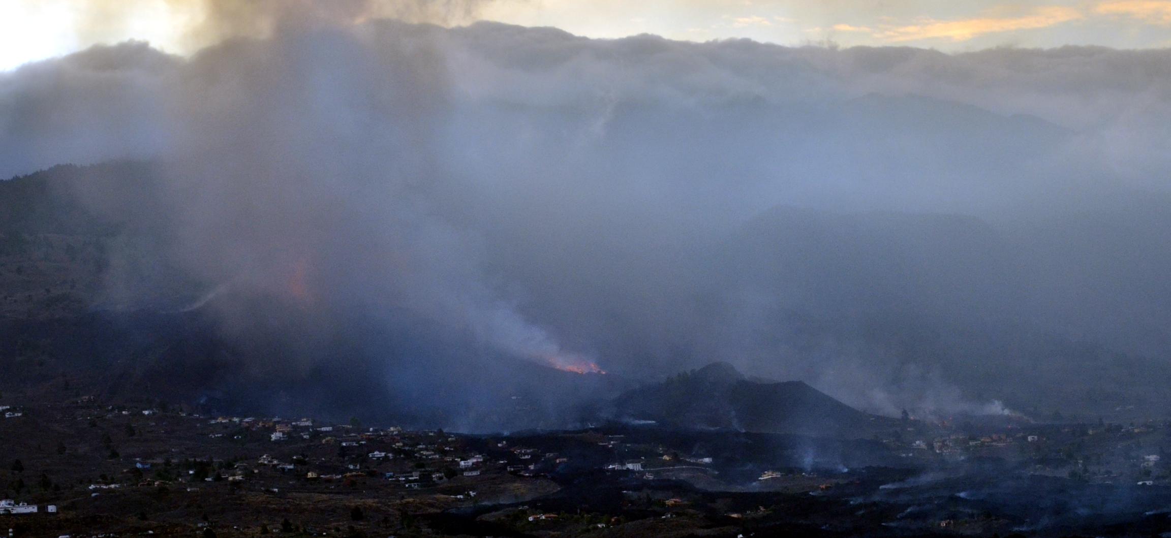Imagen visible volcán La Palma