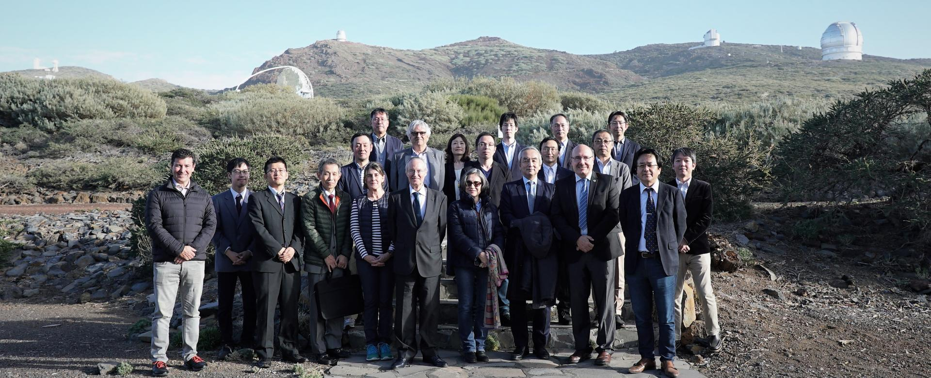 Japanese delegation at the Roque de los Muchachos Observatory (La Palma)