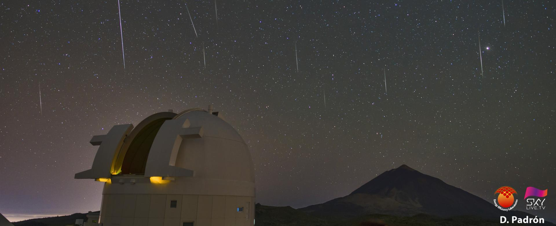 Geminids on the Teide Observatory