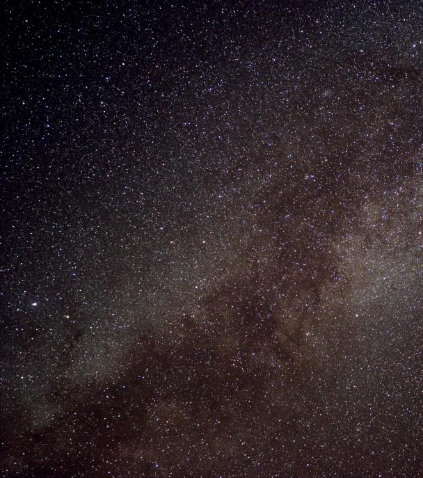The Milky Way around the constellation Cygnus
