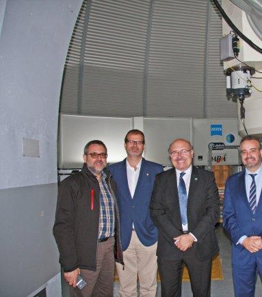 The Rector and the Vice-rector of Research of the University of Las Palmas de Gran Canaria visit the IAC and the Observatorio del Teide