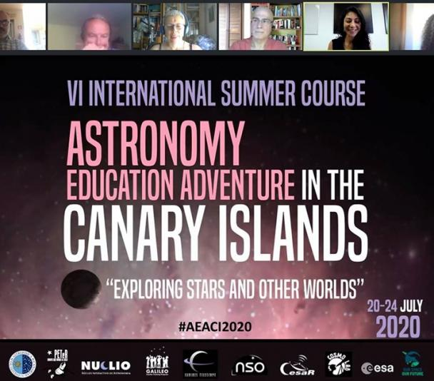 "Sesión inaugural curso ""Astronomy Education Adventure in the Canary Islands 2020"""