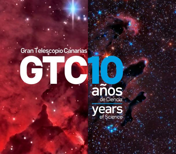 "Cover leaflet ""Gran Telescopio Canarias: 10 years of Science"""