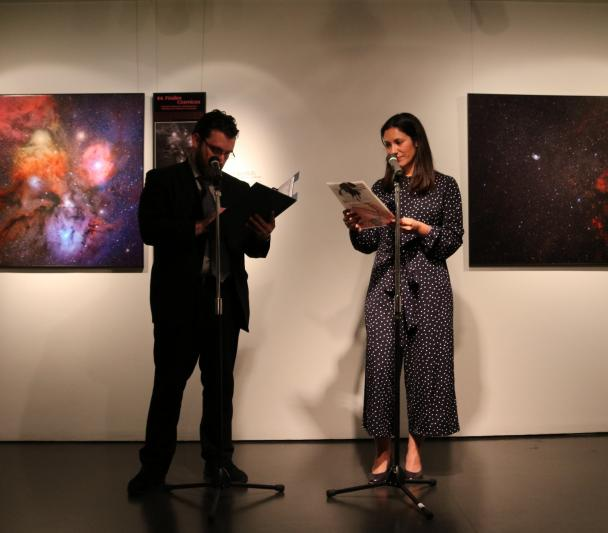 "Opening of the exhibition ""100 Square Moons"" at the Cervantes Institute in Japan"