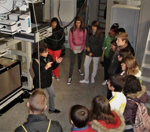 "Group of students of the program ""Our Students and the ORM"" during the visit to the Telescope Nazionale Galileo (TNG)"