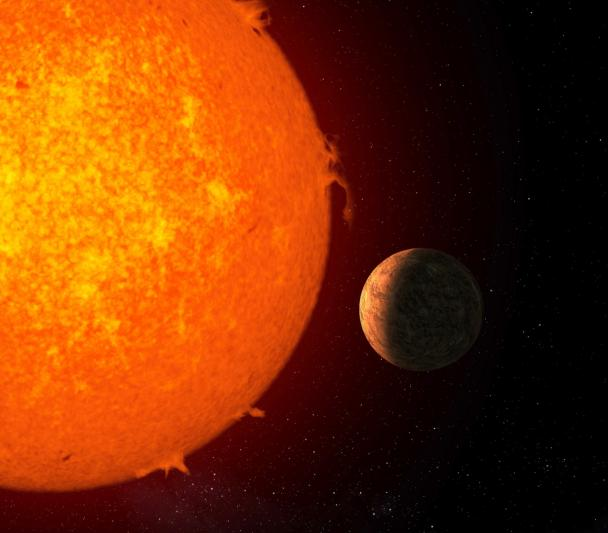 Artistic representation of the planet Proxima b orbiting its star