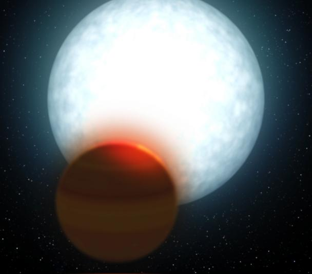 Ultra hot Jupiter - Artist's impression.