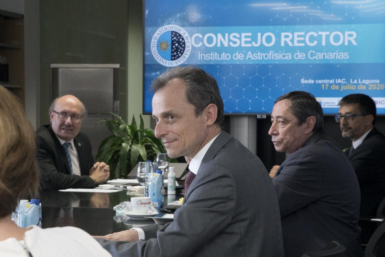 Pedro Duque at the IAC Governing Council meeting