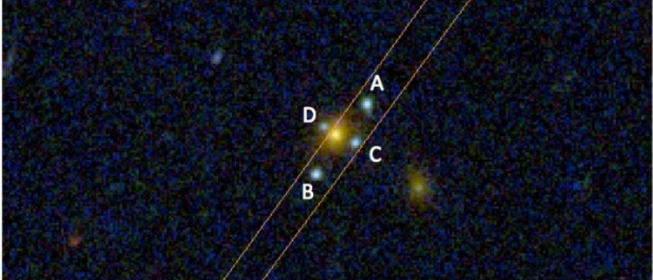 The newly discovered Einstein Cross J2211-3050.