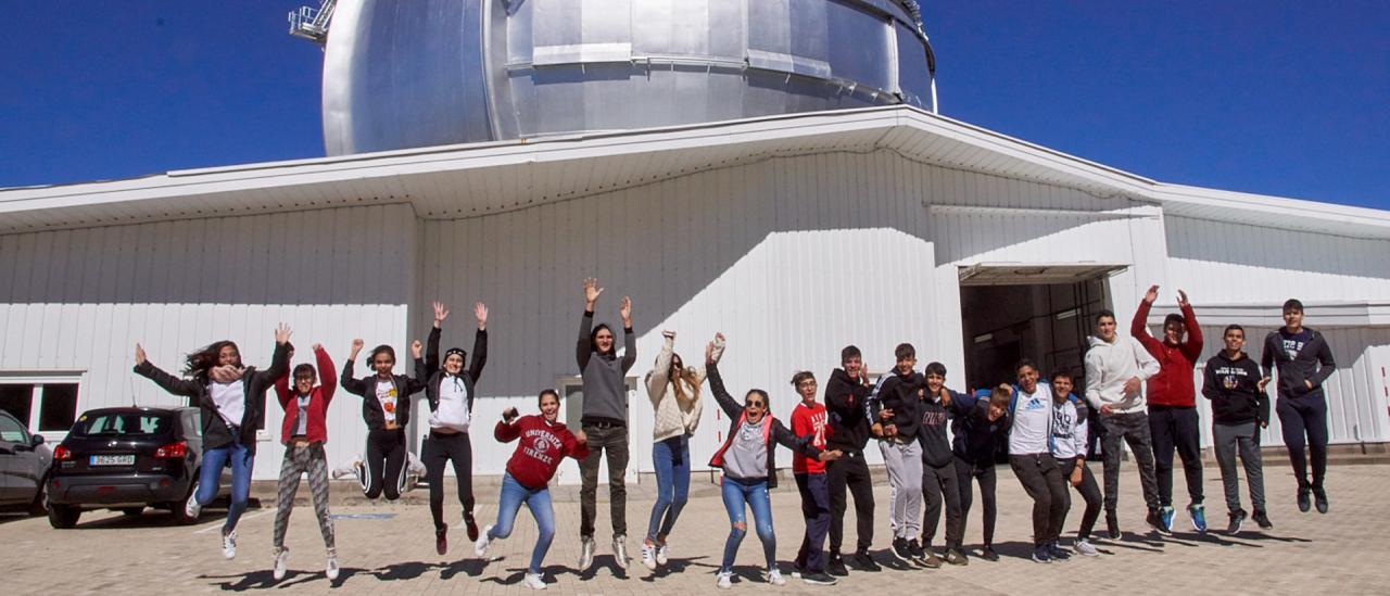 "Students of the Colegio Santo Domingo de Guzmán during the visit to the Gran Telescopio Canarias (GTC) of the programme ""Nuestros Alumnos y el ORM"" (Our Students and the ORM)"
