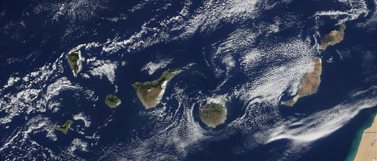 Satellite image of the Canary Islands