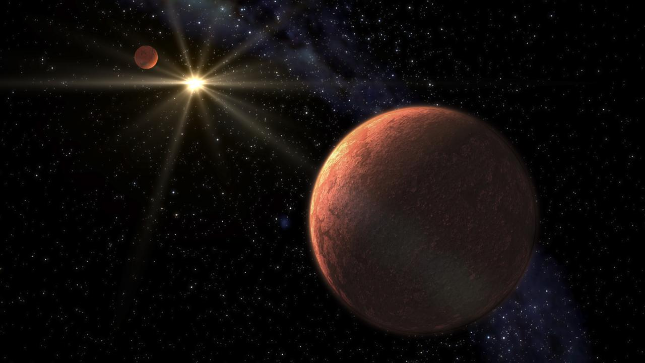 Discovery of a system of super-Earths orbiting the star HD 176986 with about 5.7 and 9.2 Earth masses.