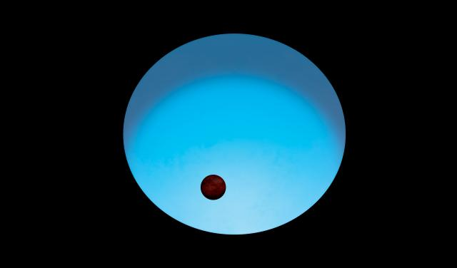 Artist impression of WASP-189 and its planet. Credit: ESA.