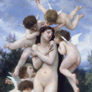 """La primavera"", por William-Adolphe Bouguereau (1886). Joslyn Art Museum."