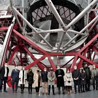 Delegation from the Tourism Summit at the Gran Telescopio Canarias