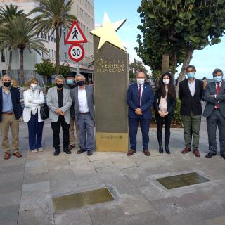 Image of the IAC representatives who have attended the inauguration of the Walk of the Stars of Science of La Palma. Credit: Aarón García Botín/IAC