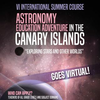 Cartel del Astronomy Education Adventure in the Canary Islands 2020
