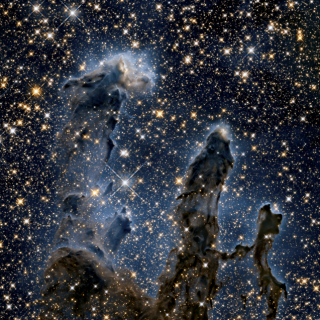 Eagle Nebula in IR and Visible (credit Hubble Space Telescope). The PWV impacts the IR sky quality.