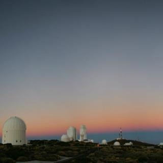 Teide Observatory at dawn.