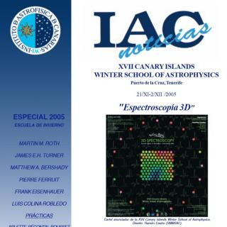 "Cover Winter School 2005 ""3D spectroscopy"". Special Edition"